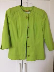 GAI MATTIOLO lime green blazer