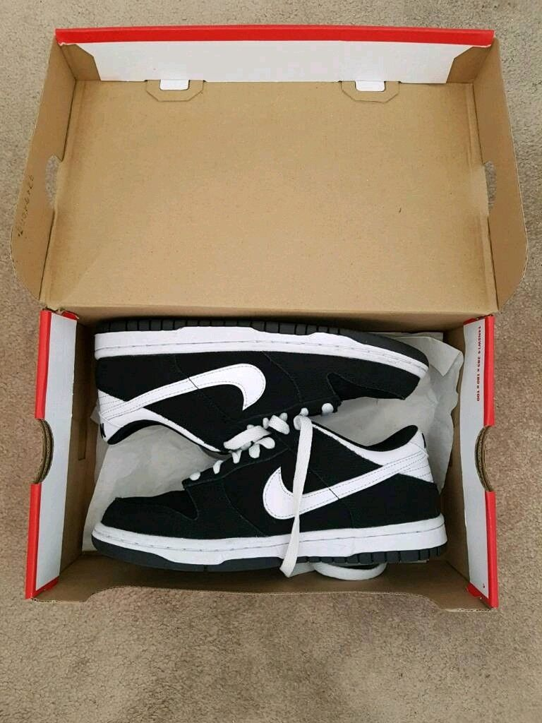 new product 3e163 dc658 Boxed Size 3.5 Boys JD Sports Brand New Nike Dunk Low Black And White  Trainers. | in Bournemouth, Dorset | Gumtree