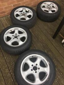 Mercedes alloys with good tires