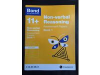 Bond 11+ Non-verbal Reasoning & English Assessment Papers - Book 1 (9 -10 Year)