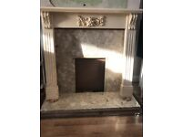 Fire surround 2 different cultured marble