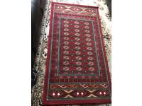 Rug red colour Size 150x80cm Used good condition £12