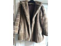 Vintage Faux Fur Coat Size 16