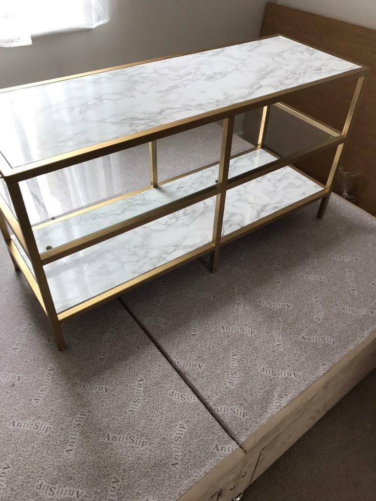Marble and gold customised TV Stand / MEDIA UNIT IKEA | in ...