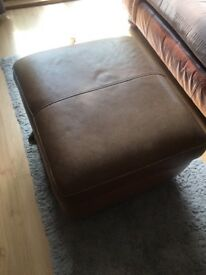 Faux leather footstool