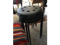 New black stool chairs x4