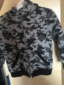 Baby boy grey camo jacket