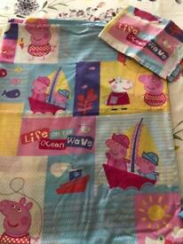 Peppa pig and George toddler duvet set
