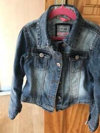 Girls denim jacket size 7-8 Next