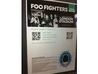 x1 ticket concert for the Foo fighters 22nd June