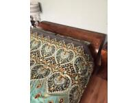 King size Sleigh Bed - solid mango wood