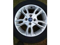 Ford alloy 15 inch wheel rim with tyre