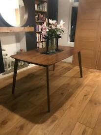 Walnut Veneer 4 Seater Dining table.