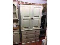 Solid pine wardrobe drawers linen press
