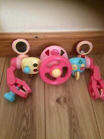 Pram pushchair activity toy