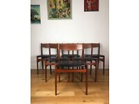Mid Century Modern Danish Rosewood Six Dining Chairs by Erik Kirkegaard FREE LOCAL DELIVERY