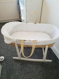 For sale White moses basket