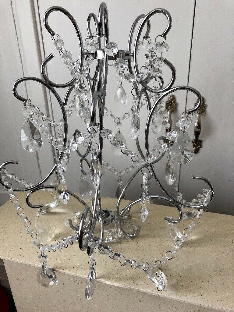 Crystal chrome chandelier