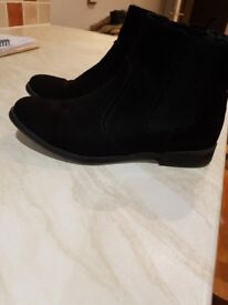 Black chelsea boots . Size 4 from h and m. Excellent condition.