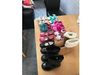 Girls shoes boots sizes 5 and 7