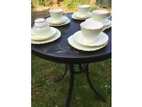 Set of 6 vintage Colclough Harlequin trios