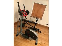Adidas weights bench and York cross trainer gym set