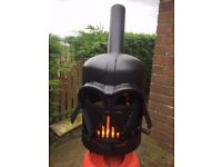 Darth Vadar log burner patio heater
