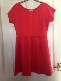 "Papaya Women's Pink Dress. Size 14. Length - 34"""