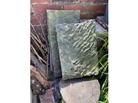 Coping stone x 2 (vintage / stone / Sheffield)
