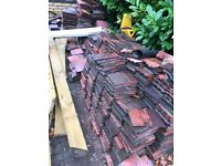 Rosemary Clay tiles, Marley 400mm Old English Red,