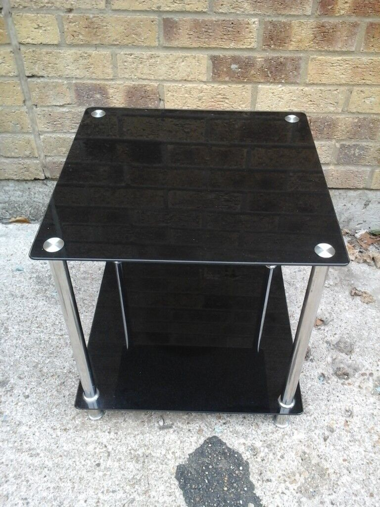 Small Black Glass Coffee Side Table With Chrome Legs In Maidstone Kent Gumtree