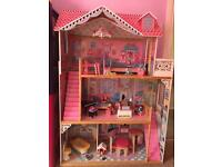 Luxury dolls house with accessories