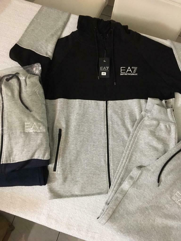 Clothing, Shoes & Accessories Men's Clothing Cheap Price Emporio Armani Tracksuit Black Xl Reputation First