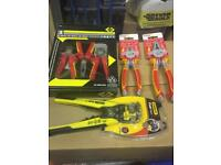 Lot of Electrian tools and materials available