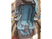 Baby jogger teal seat and foot muff