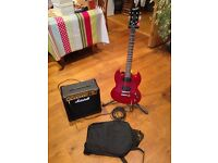 Epiphone SG Special & Marshall MG15CD Amp