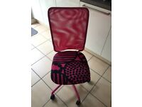Pink desk swivel chair