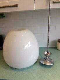 Glass dome light shade