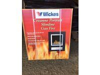 Cezanne Gas Feature Fire Polished Steel 3.3kW