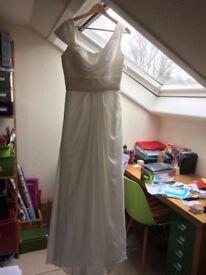Asymmetrical cowl neck dress £100