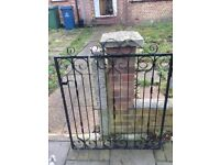 Black iron garden gate only £25