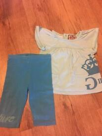 Girls genuine Juicy Couture blue summer outfit age 12-18 months