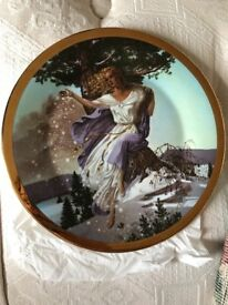 Set of seasons of the year plates