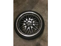 """Bmw deep dish 19"""" alloy wheels with 4 good tyres"""