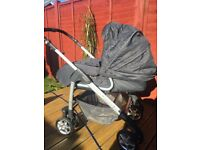 Silver cross pram/travel system.
