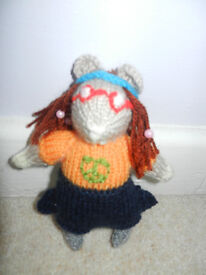 New Hand Knitted Hippy Hamster