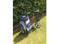 Golf Bag and pull Trolley