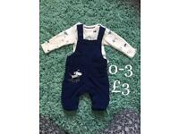 M&S boys outfit 0-3 months