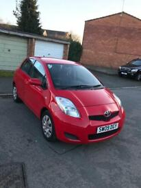 Toyota Yaris 2009 reg 5 door hatchback Red Colour good condition