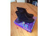 Black Lace Boots (Size 6) BNIB